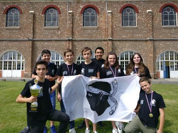 L'équipe du Collège Giraud, Championne de France 2017