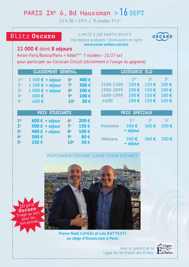 Le Corsican Circuit fera étape le 9 septembre à Paris, au siège d'Oscaro.com !