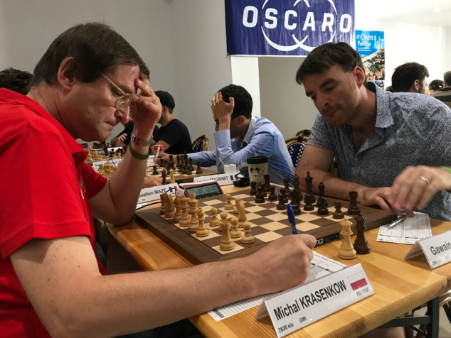 La partie Krasenkow -Jones lors de la ronde 7