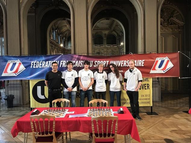 Championnat de France universitaire à Nancy : 2 titres en -2200 elo et en -1600 elo !
