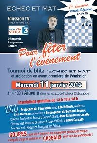 Présentation et tournoi d'Echec et Mat TV