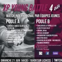 Le Corsica Chess Club remporte brillamment la XP Young Battle Chess