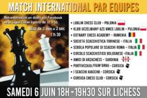 Match International par équipes : Brillante victoire di I Scacchi Aiaccini !