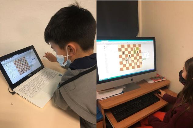 Hélio et Cerise participant aux European ChessMates à la Casa di I Scacchi de Bastia