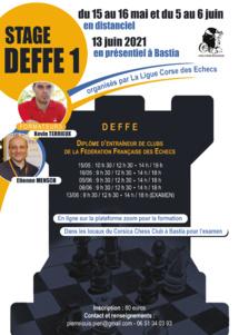 Un stage d'entraîneur (DEFFE 1°) organisé ce week-end !