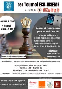 Un beau tournoi de blitz sous le signe de la solidarité samedi 25 septembre à Aiacciu