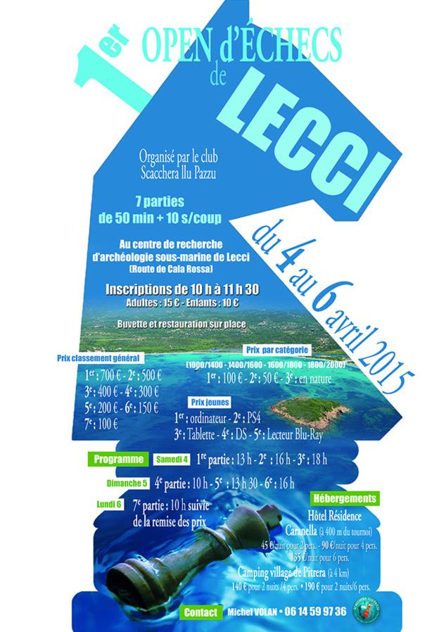 1er Open de Lecci doté de 4 000 € !