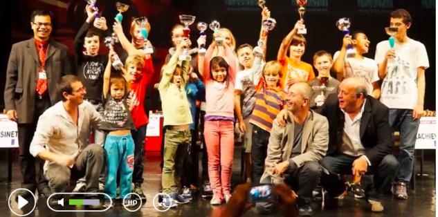 Belle cérémonie des prix de l'Open Oscaro avec le PDG d'Oscaro, Pierre-Noël Luiggi