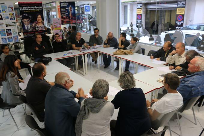 Réunion de préparation de l'étape bastiaise du Corsican Circuit