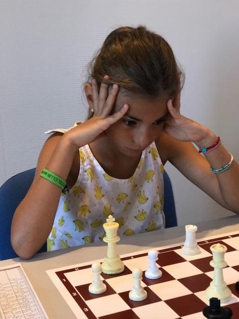 Ghjuliana Berfini en pleine concentration