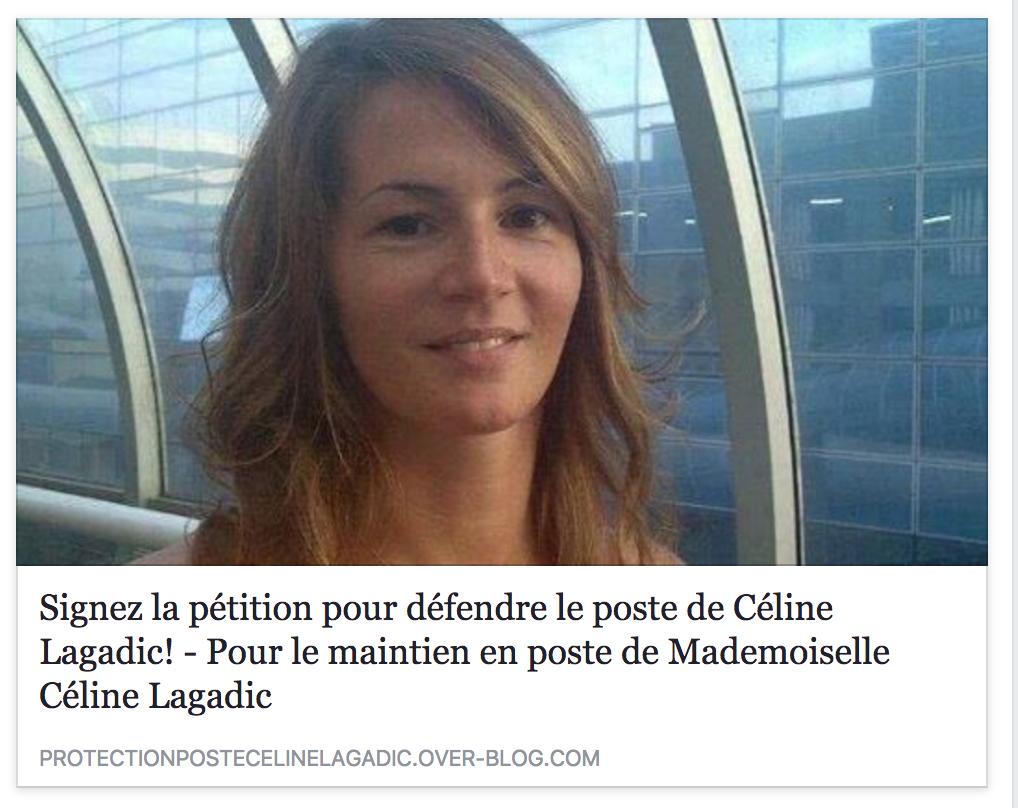 Visitez le blog et signez la pétition pour soutenir Céline