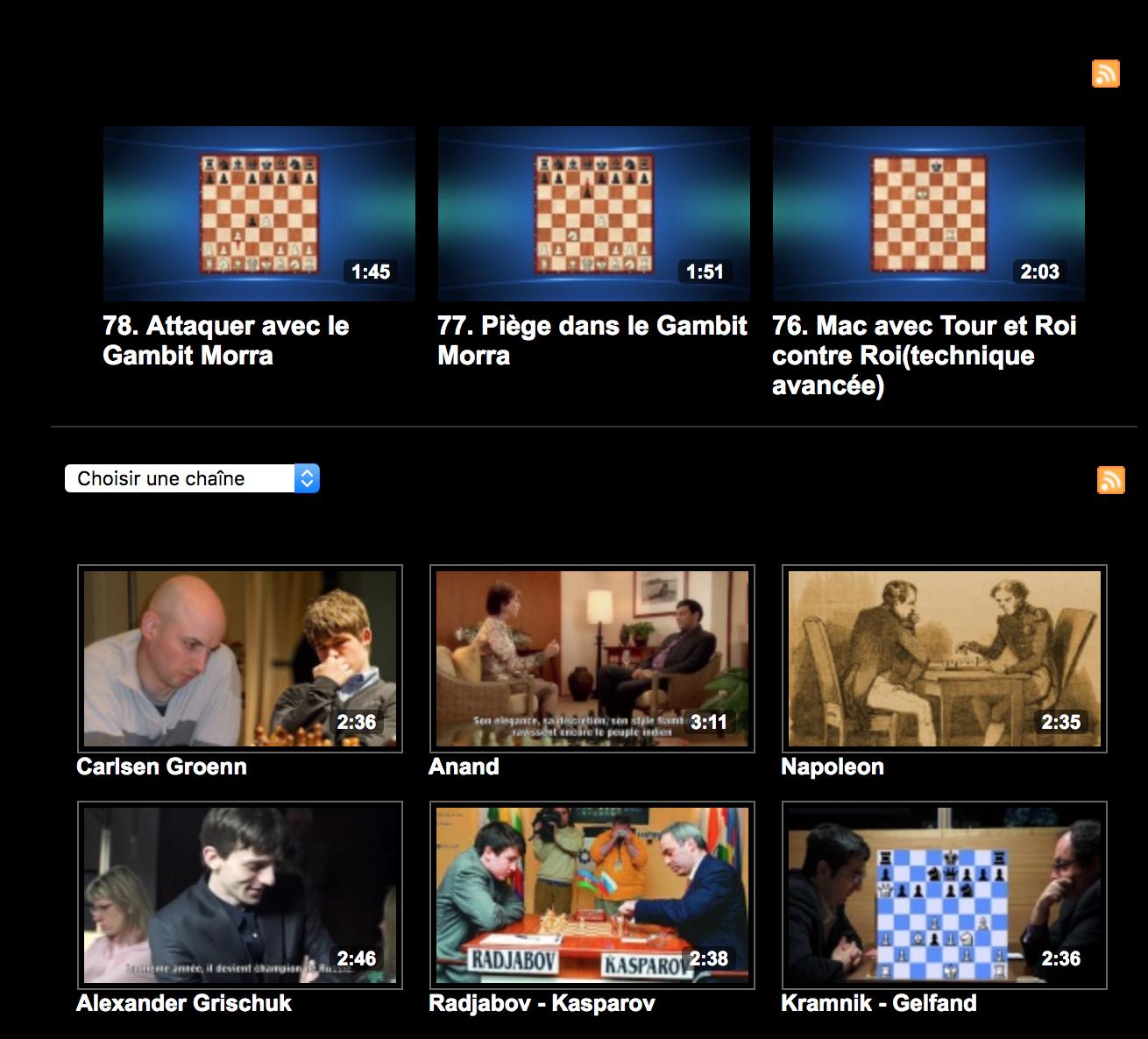 Corsica Chess TV... des centaines de videos : infos, mats, conseils tactiques, Histoire des champions, les plus belles parties
