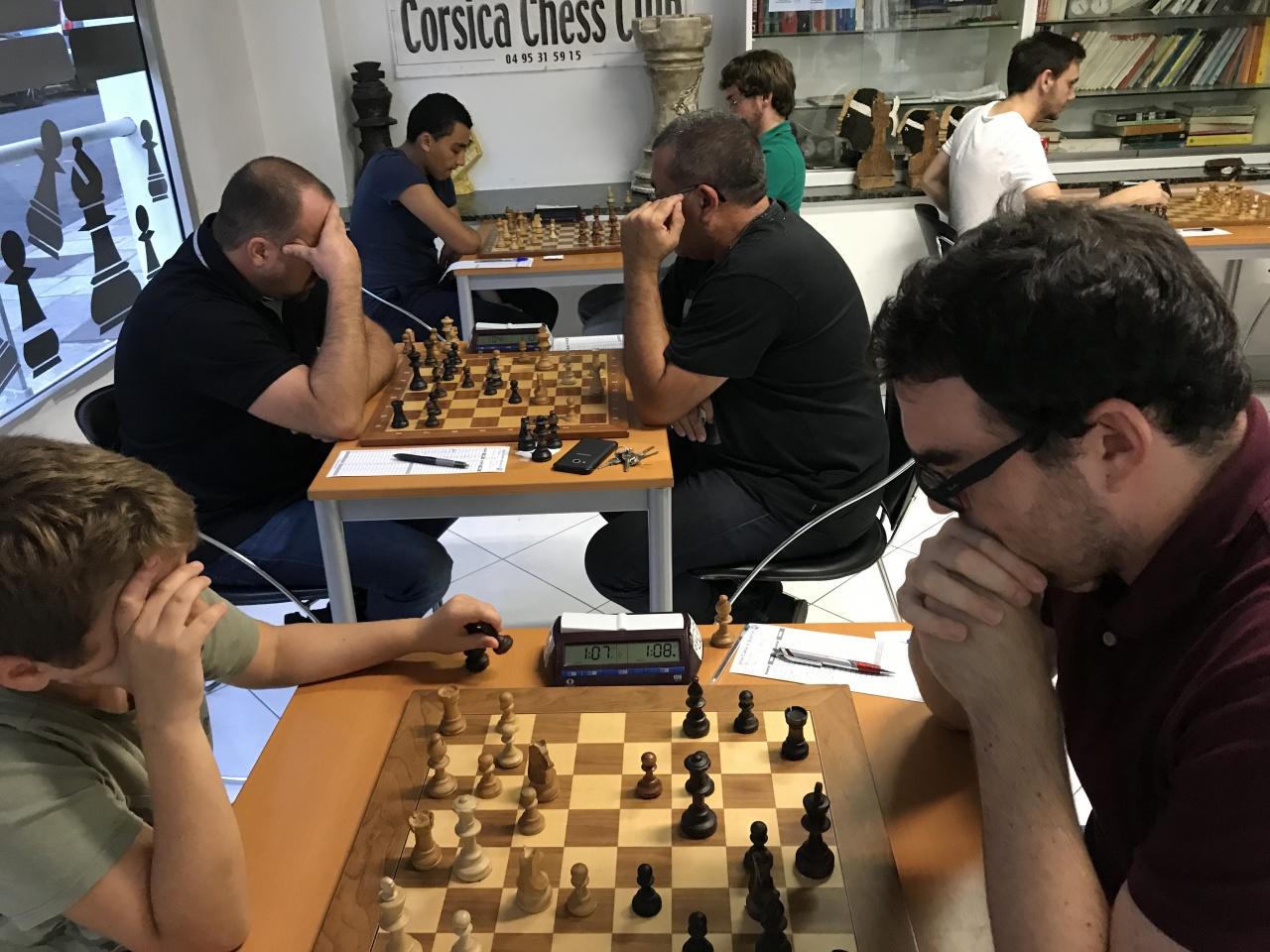 Reprise des tournois fermés du Corsica Chess Club