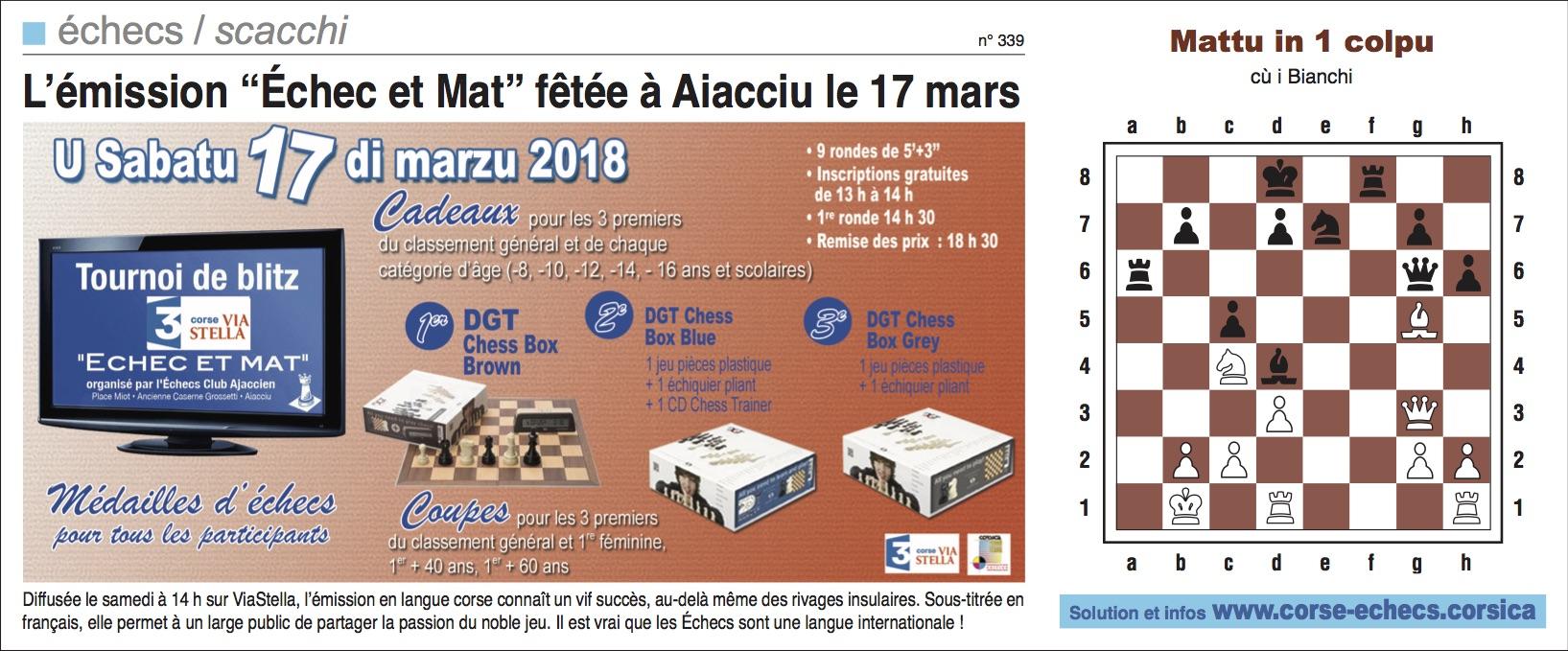 Corse-Matin du 11 mars 2018