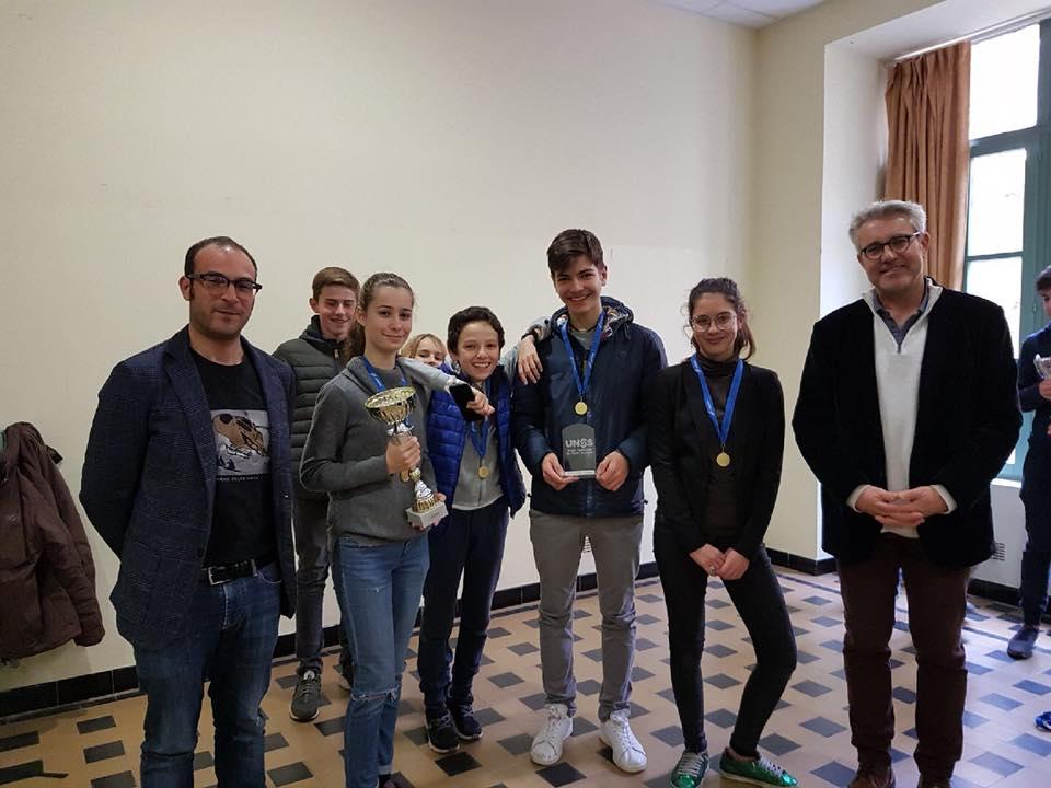 Le collège Fesch remporte le tournoi UNSS du district d'Aiacciu