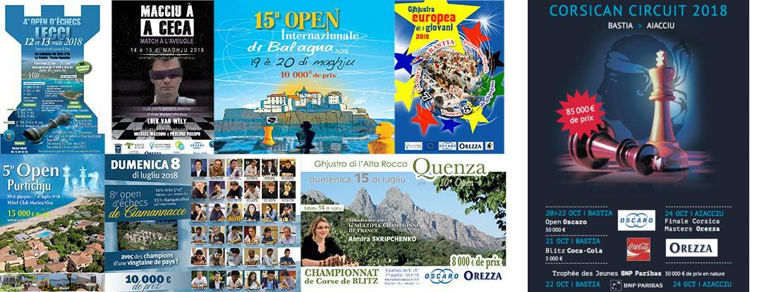 Corsica : 8 international events in 2018