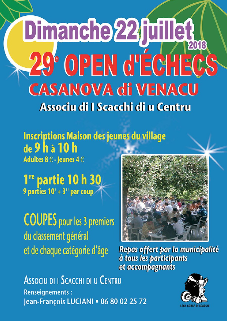 29e Open d'a Casanova dimanche 22 juillet