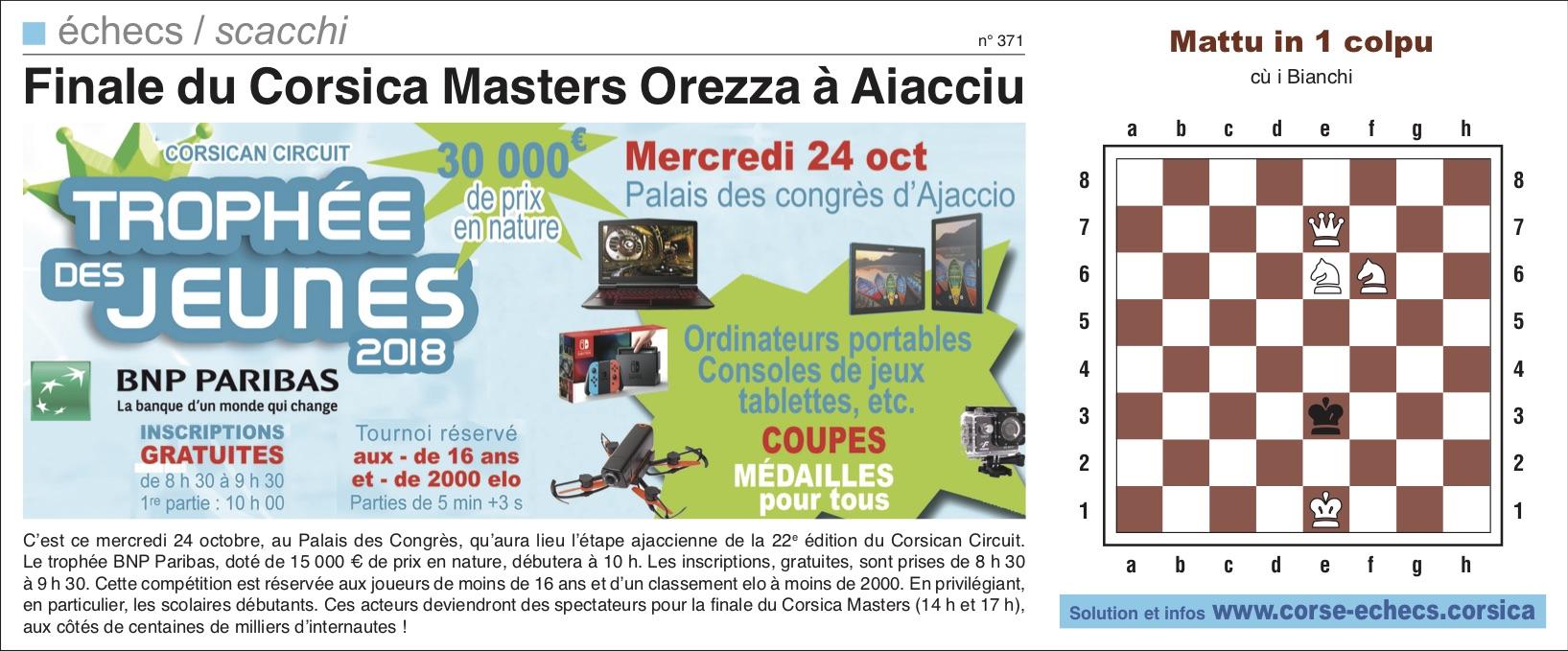 Corse-Matin du 21 octobre 2018