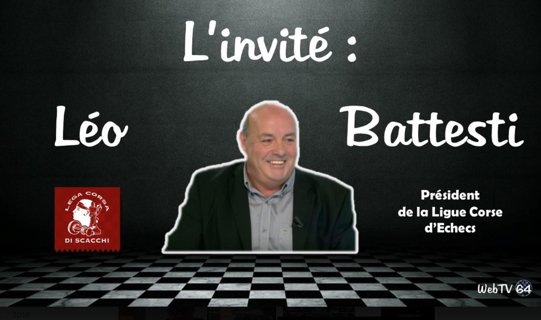 Léo Battesti invité d'une très animée émission sur WebTV 64