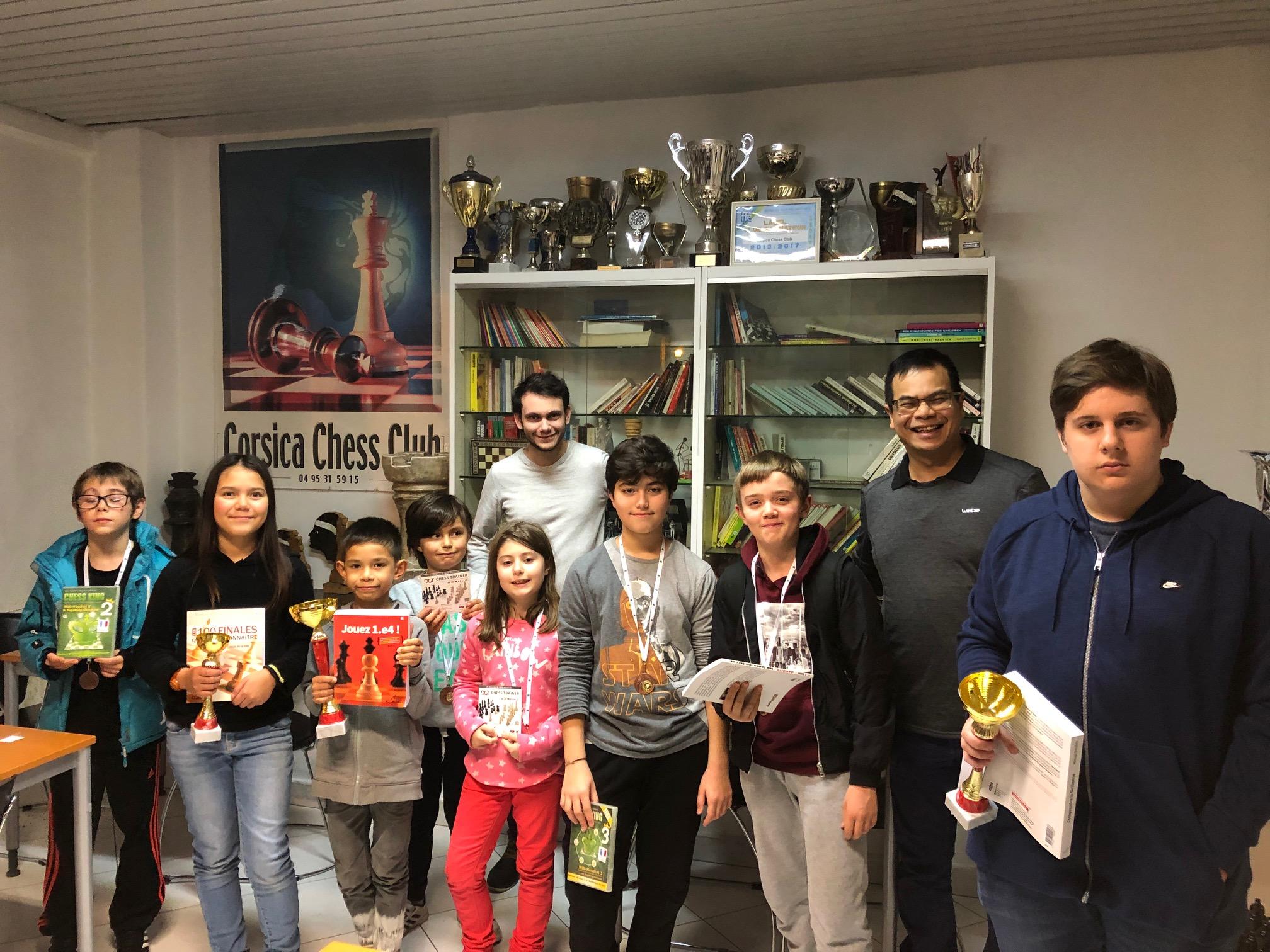 Corsica Chess Club : un open de Noël pour faire progresser les jeunes