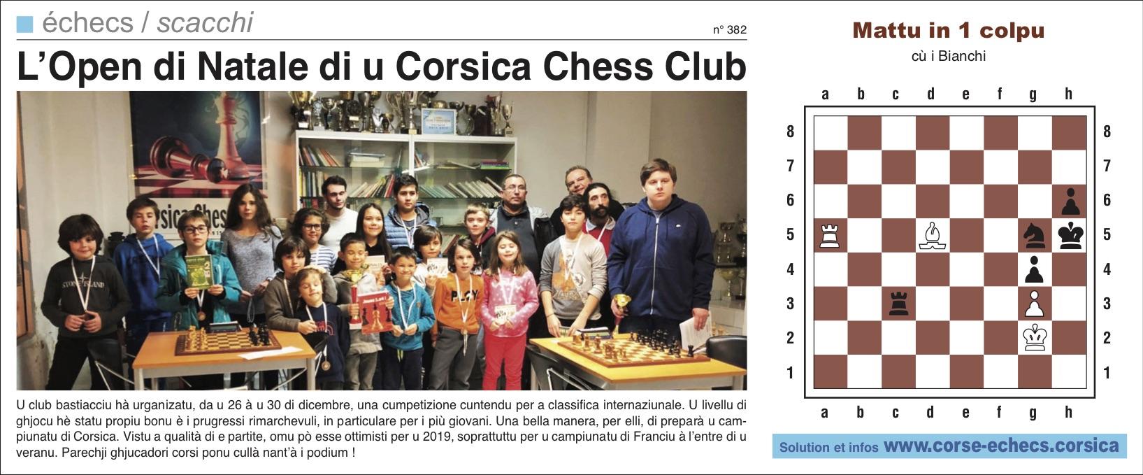 Corse-Matin du 06 janvier 2019