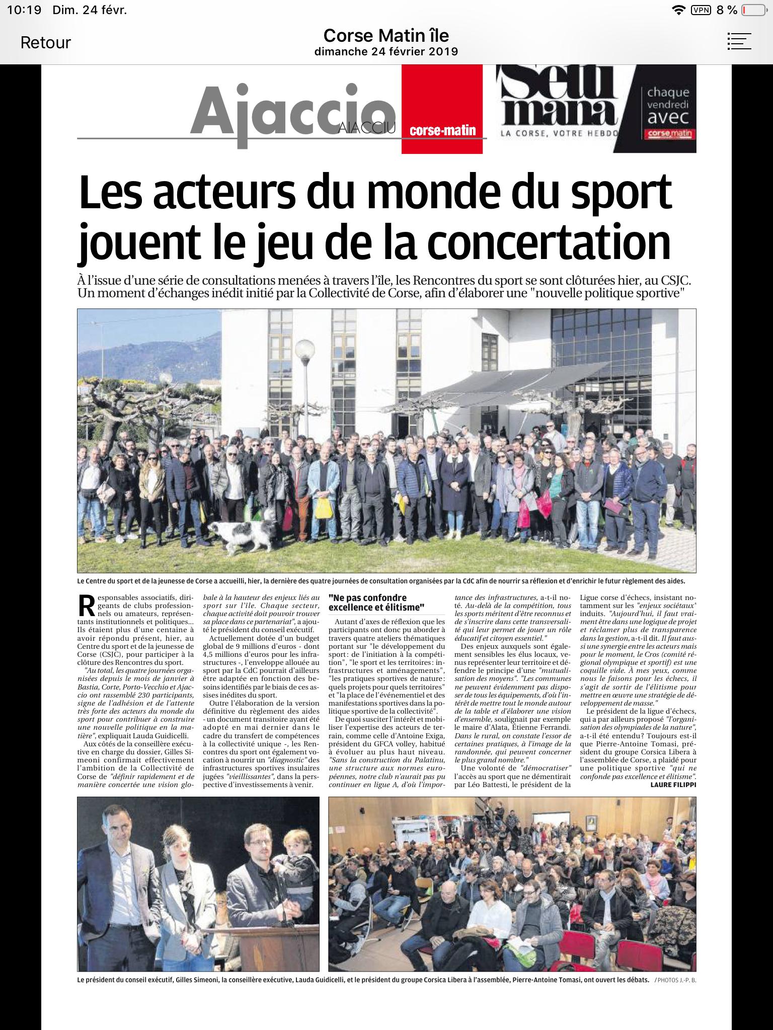 Vers une nouvelle politique territoriale pour le Sport