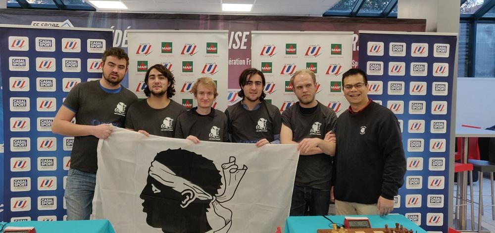 A squadra Corsa: F. Brethes, E. Porsia, P.F. Geronimi, P. Porsia, L. Bedini, A. Vilaisarn