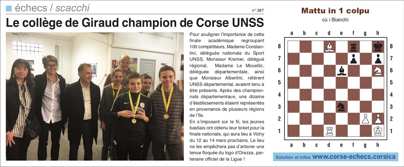 Corse-Matin du 10 février 2019