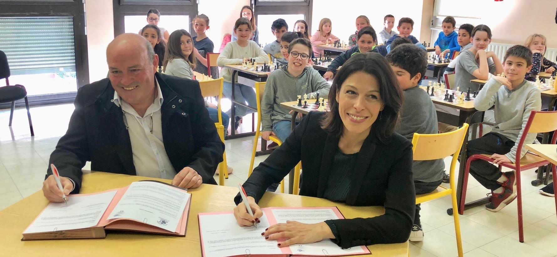 """La Rectrice de Corse : """"Grâce à ce partenariat nous sommes la première Académie pour l'apprentissage des échecs ! """""""