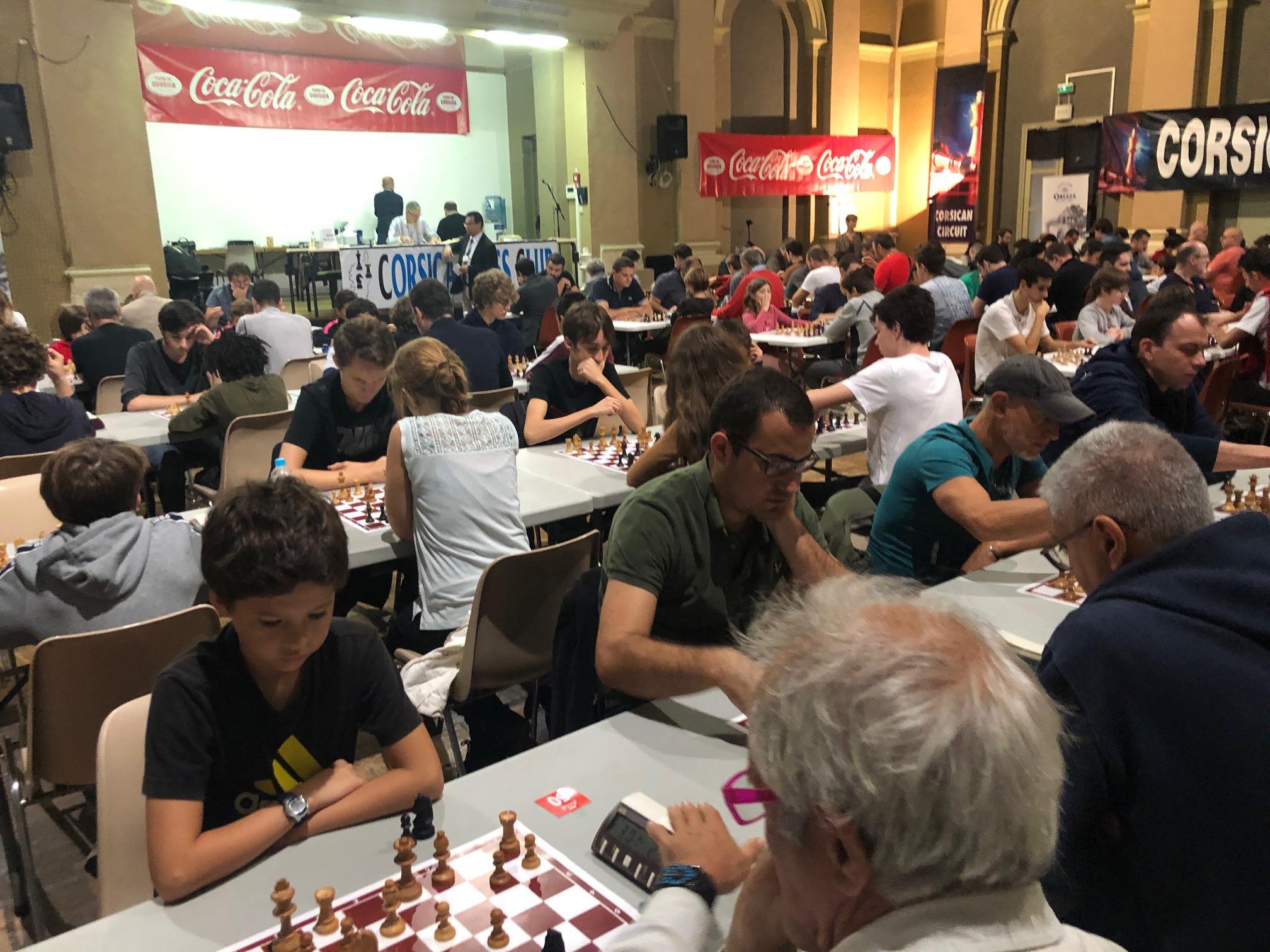 Tournoi de Blitz Coca Cola doté de 5 000 € durant le Corsican Circuit