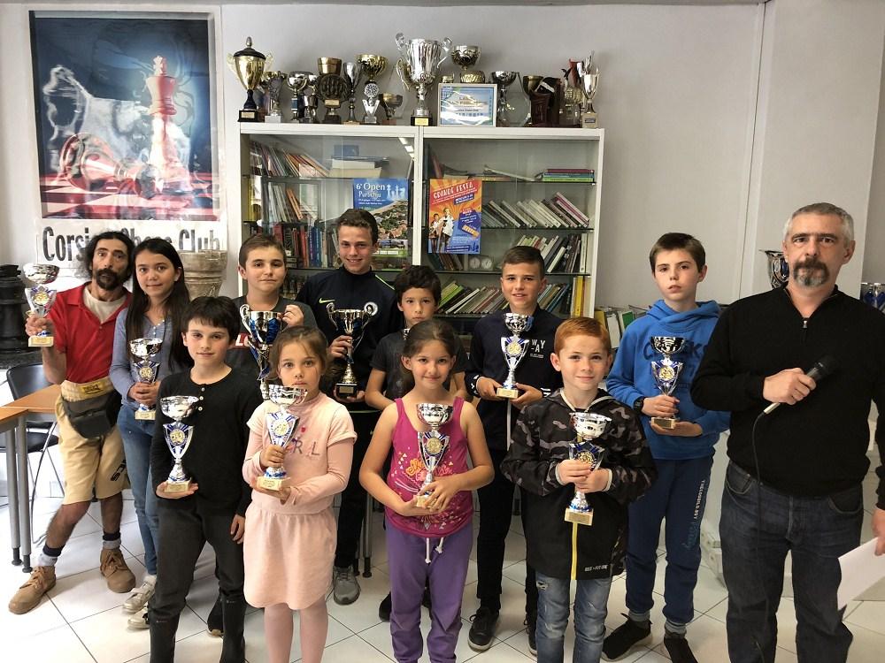 Le Corsica Chess Club fête ses champions !