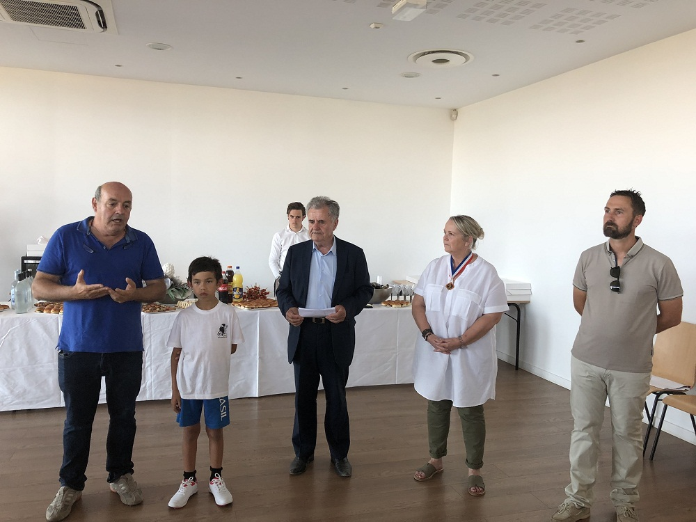 Réception à l'Hôtel de Ville de Lucciana en l'honneur d'Apollo Deladerriere