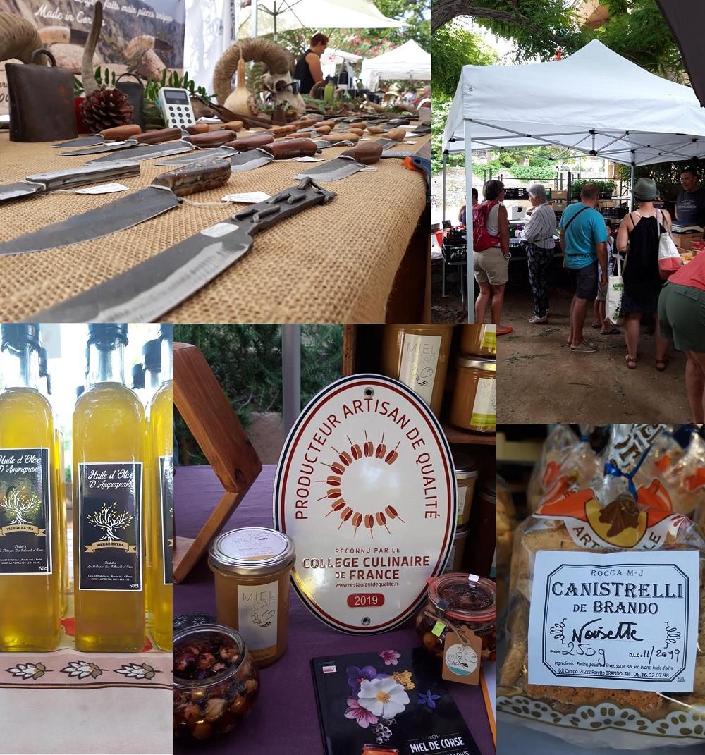 marché artisanal de producteurs d'Erbalonga, tous les jeudi de 9h à 13h