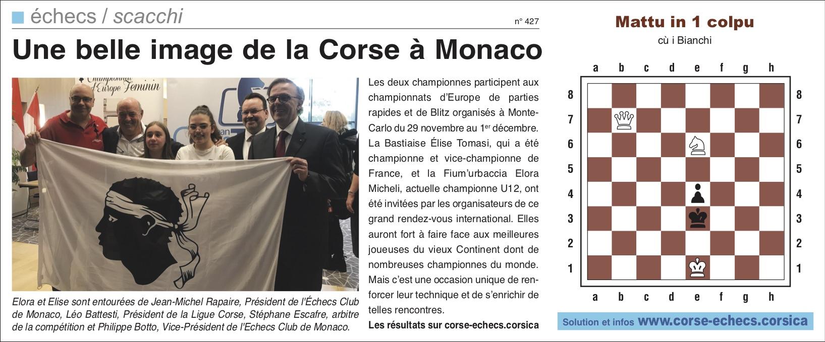 Corse-Matin du 01 décembre 2019