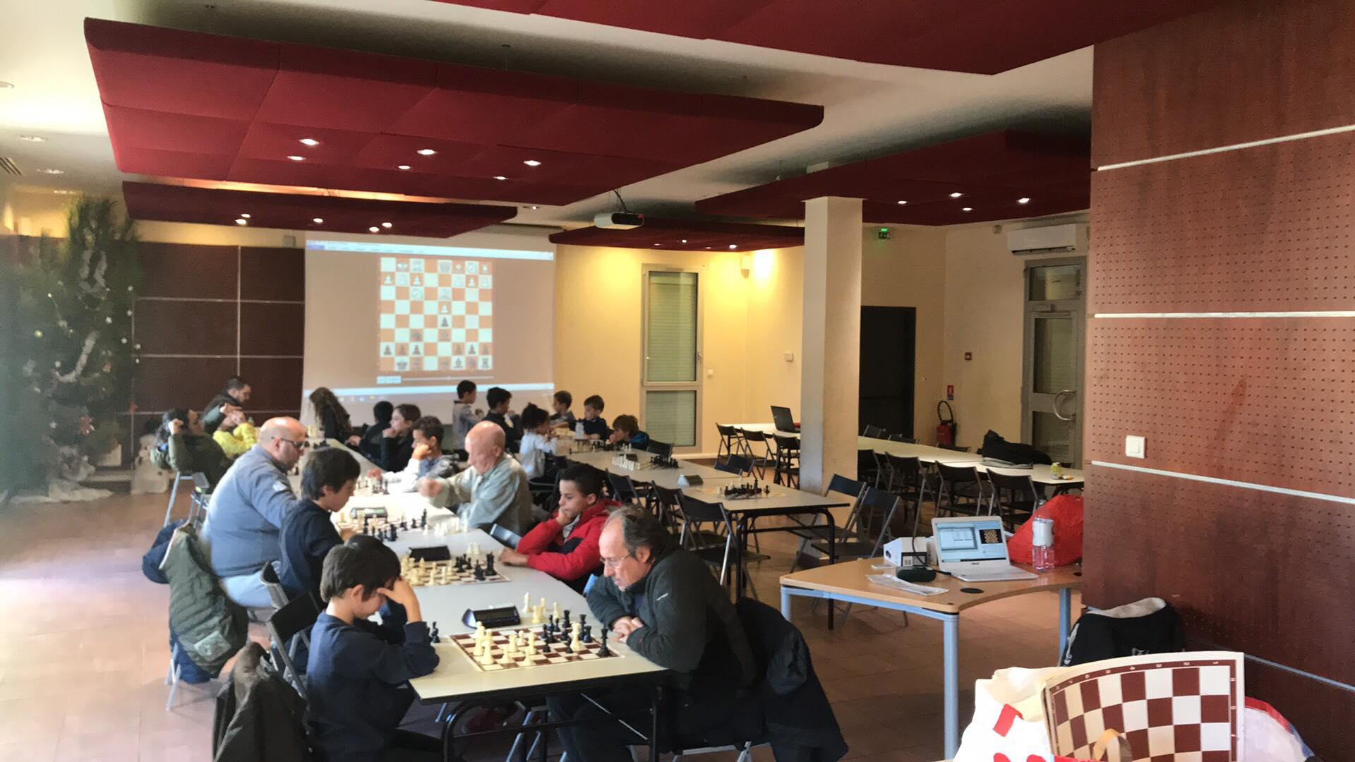 24 participants au stage de fin d'année du Balagna Chess Club