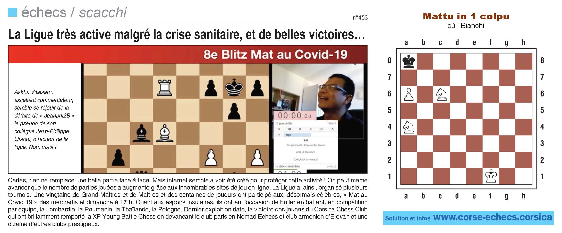 Corse-Matin du 31 mai 2020