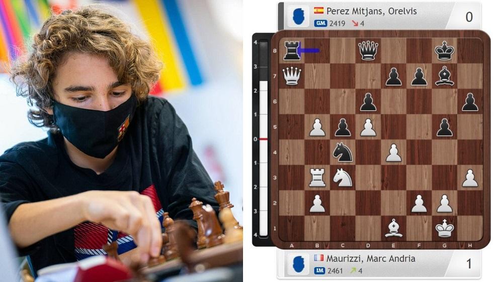 Dans cette position,lors de la 7e ronde, il trouve un coup excellent et inattendu...