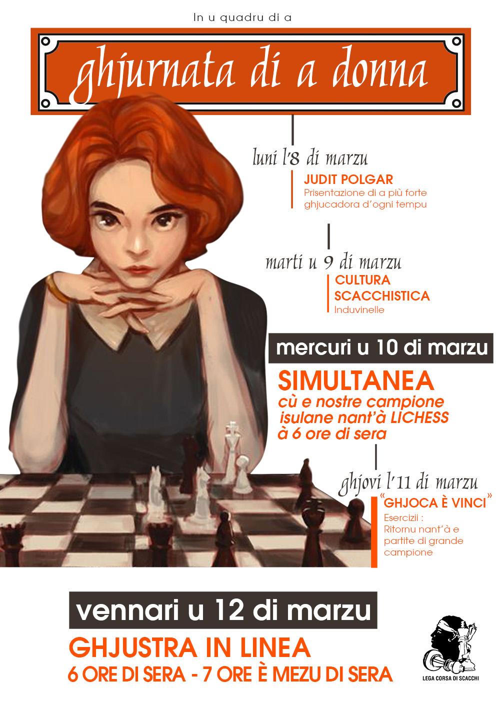 A Lega Corsa di Scacchi urganizeghja a so prima edizione di « A Settimana di a Donna » ! La ligue Corse d'échecs organise sa première édition de « La semaine de la femme » !