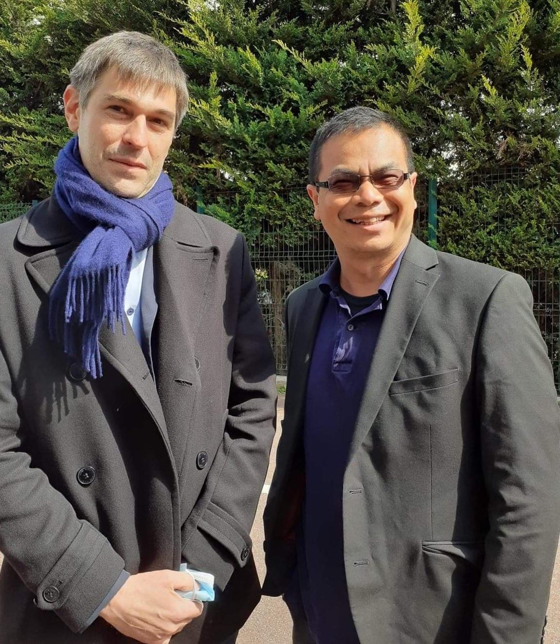 Le président de la Ligue Corse Akkha Vilaisarn en compagnie du nouveau président de la FFE Eloi Relange