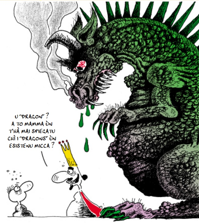 """Le """"Dragon"""" est l'une des principales variantes de l'ouverture dite """"Sicilienne"""" (e4 c5).Les Noirs, après avoir joué g6, positionnent leur fou noir en g7."""