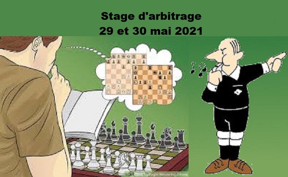 Stage d'arbitrage et formation continue les 29 et 30 mai