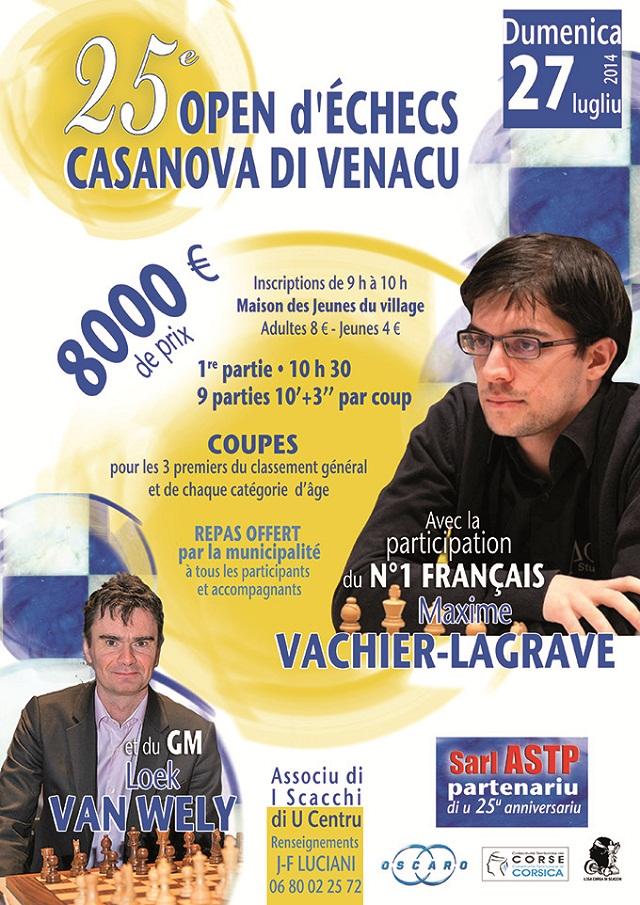 Reportage video et photos sur la victoire de Maxime Vachier-Lagrave à Casanova !
