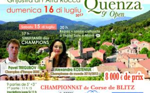 Quenza 2017 avec la Chess Queen Alexandra Kosteniuk et Pavel Tregubov
