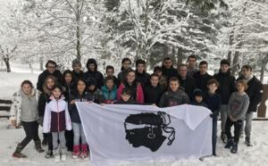 Vizzavona, un stage sous la neige pour le pôle espoir