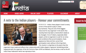 L'article de Chessbase India