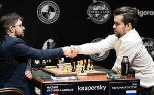 Maxime fait tomber Nepomniachtchi, tournoi des Candidats arrêté à mi-parcours!