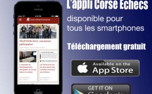Nouvelle version de l'Appli Corse Echecs, téléchargez-la pour mieux nous suivre !