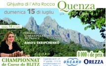 Championnat de Corse de Blitz à Quenza le dimanche 15 juillet